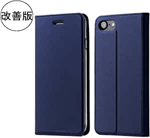 B&B iPhone6 ケース / iPhone6s ケース 手帳型 薄型 軽量 耐衝撃 高級PUレザー アイフォンケース カード収納 マグネット スタンド機能 付き スマホケース (iPhone6/iPhone6S 4.7'', ブルー)