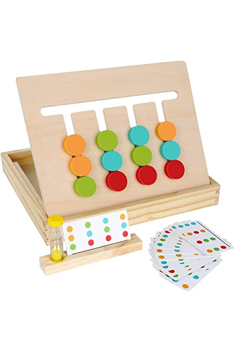 Baby Brain Memory Development Game Logical Thinking Training Puzzle Parent-Child Interactive Toys Gift Haoyigou Wooden Boxed Memory Chess Kid Intelligence IQ Brain Teaser Game Wooden Box