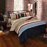 防菌防ダニの綿100%/クイーン・キングサイズの寝具セット/シートと枕カバー/掛け布団カバー