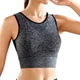 Snailify Women's Sports Bra High Impact Full Coverage Racerback Removable Padded - Yoga Gym Running Workout Bra
