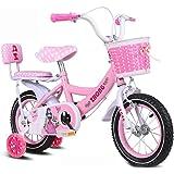 Girls Bike, 12 14 16 18 Inch Kids Bike with Training Wheels for 2-9 Years Old Girls, Blue, Pink, Purple. 18YJ