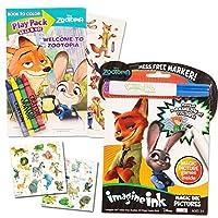 Disney Zootopia Imagine Inkブックandアクティビティパックセット( Includes Mess Freeマーカーand Bonus動物園動物ステッカー)