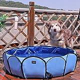 petsfit ペット用プール 犬 猫バスグッズ バスプール 夏 折り畳み 小型犬中型犬大型犬でもいいお風呂ために 丈夫