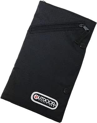 アウトドア ネックポーチ   旅行グッズ   貴重品入   OUTDOOR OD-021 ブラック (旅行用品)