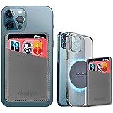 【Amazon 限定ブランド】doeboe 磁気電話カードホルダー、iPhone 13/iPhone 12 シリーズと互換性のあるゴム磁石粘着ステッカー付きレザー ウォレット 磁気MagSafeアクセサリ iPhone 12/iPhone 13シリー
