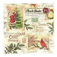 パンチスタジオ 【クリスマス】 ペーパーカクテルナプキン Mサイズ (クリスマスモチーフ) ポストカード&ホリィ 45311