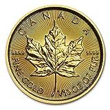 カナダ メイプルリーフ 5ドル金 ゴールド コイン 3.11グラム 2016年製造 24K 1/10オンス 純金 インゴット金貨 真空パック入り