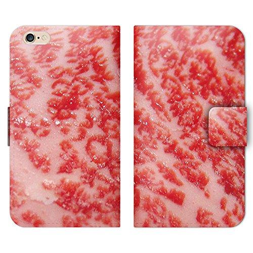 iPhone6 ケース 手帳型 ストラップホール付 肉 牛肉 サシ 綺麗 赤身 R000703_01...