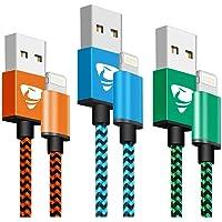 Lightning 電纜 MFi認證 Aioneus iPhone 充電線 1.8米 蘋果手機 充電線 3根套裝 iPh…