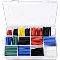 電気ワイヤー、着色ワイヤーキット柔軟なシリコンワイヤー(6種類の異なる色の4〜20メートルのスプール) (2:1熱収縮チ…