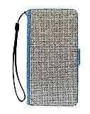 【Mrs.マドンナ】APPLE アップル iPad Pro 9.7インチ 手帳型 スマホ ケース デニム地 ガラスストーン デコレーション キラキラ 保護フィルム付 カードポケット付