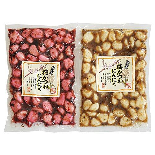梅にんにく 黒ごま 梅かつおニンニク 230g (プレーン、しそ味各1袋)<09863>