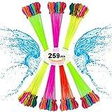 水風船 水爆弾 259個 自動的に縛る 水爆弾ボール 水を入れて投げ合う 水遊び 夏のおもちゃ マジックバルーン 急速注入大量の水風船が?60秒で一気に作れる水風船 (7束x37) By Dnycf