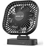 OPOLAR 5 Inch Desk Fan with Timer, USB or AA Battery Operated, 3 Speeds, Extra Quiet, 7-Blade Design, Adjustable Angle, for O