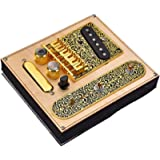 6 Strings Saddle Bridge Plate, 3 Way Switch Control Plate, Neck Pickup Set for Fender Telecaster Electric Guitars Replacement