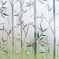 Rabbitgoo 窓 めかくしシート 3D魔法シリーズ 食器棚シート 水で貼れる目隠しシート 貼ってはがせるガラスフィルム 外から見えない窓用フィルム UVカット 防虫忌避 飛散防止 本棚 食器棚シート