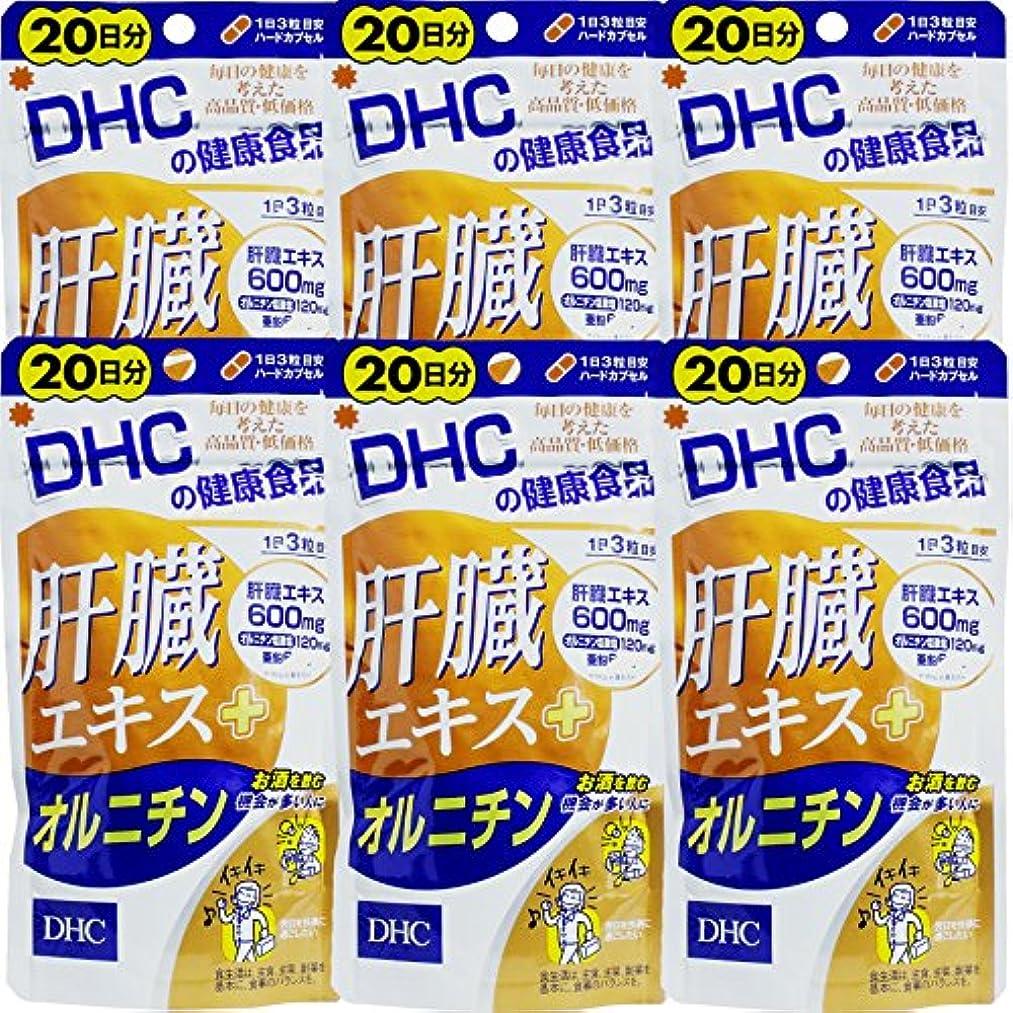 メトリック軽蔑する偏見【まとめ買い】肝臓エキス+オルニチン20日60粒 ×6個