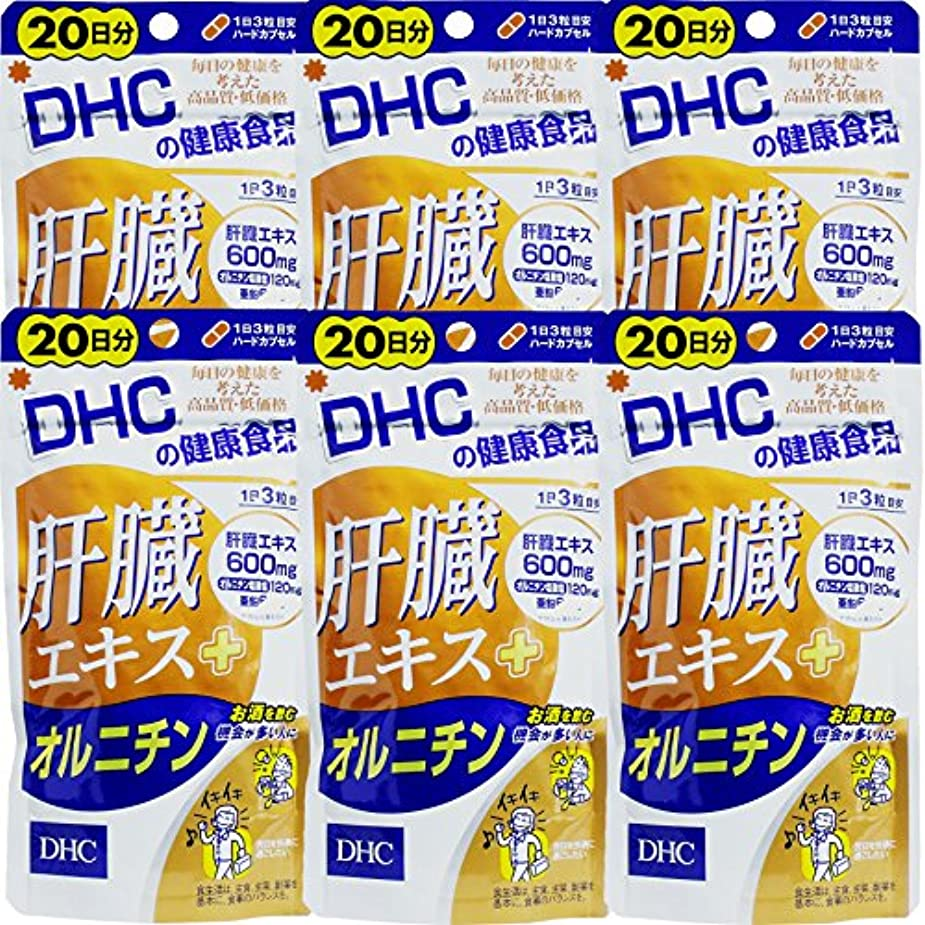 愚かなベアリング水陸両用【まとめ買い】肝臓エキス+オルニチン20日60粒 ×6個