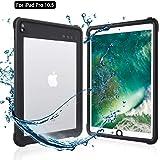 iPad Pro 10.5 防水ケース アイパッドカバー 10.5インチ IP68 防水規格 耐衝撃 軽量 薄型 水場 全面保護 タブレットケース 安心感 ストラップ付き スタンド機能 アウトドア キッチン プール ipad pro 10.5 (ブラ
