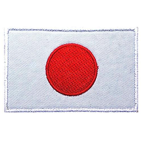 Phoenix Ikki 日本 国旗   タクティカル  布 刺繍 パッチ ワッペン 腕章 マジックテープ Japanese flag