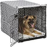 Midwest Homes for Pets Dog Crate Cover, Gray Geometric Pattern, 36-Inch