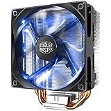 Cooler Master Blizzard T400 - CPUクーラー XtraFlo 120インチ ファイヤーレッド LED PWMファン & 4ダイレクトコンタクトヒートパイプ - インテルソケットLGA 2066/2011-v3/2011/115x/775, AMD ソケット T400i Blue