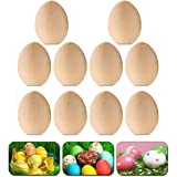 RRMMAN Wooden Simulation Eggs,Hand Painted Eggs,Wooden Eggs,Painting Eggs Kids Toys Fun Doodle Eggs,Easter Party Decorations