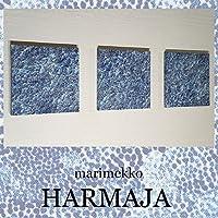 送料無料 ファブリックパネル アリス marimekko HARMAJA 30×30×2.5cm 3枚セット マリメッコ ハルマヤ 紺 ドット 北欧 お洒落 インテリア 【同梱可】