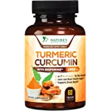 Turmeric Curcumin Highest Potency 95% Curcuminoids 1950mg with BioPerine Black Pepper for Ultra High Absorption, Made in USA,