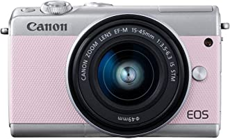 Canon EOS M100 KIT (EF-M15-45mm) DSLR Camera, Pink