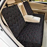 Dog Car Seat Covers, Pet Bench Seat Cover, Nonslip Waterproof Heavy Duty Pet Car Seat Cover for Dogs and Armrest Fits Cars, T