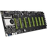 BTC-D37 マザーボード マイニングカード 8スロット グラフィックカード CPUセット DDR3/VGA/SATAポート 低電力 低発熱 マイニングマシン PCIE 16X拡張対応