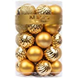 KI Store 34ct SMALL Christmas Ball Ornaments Shatterproof Christmas Decorations Tree Balls SMALL for Holiday Wedding Party De