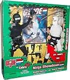 G.I. Joe 2003 Ninja Showdown SPY TROOPS The Movie Series 12 Inch Tall Action Figure Set - Snake Eyes with Working Rappel