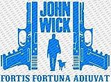 """ジョン・ウィック2???Fortis Fortuna Adiuvatダイカットビニールデカールステッカー 12"""" Inch ブルー 0647267078726"""