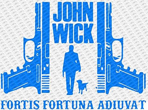 ジョン・ウィック2???Fortis Fortuna Adiuvatダイカットビニールデカールステッカー 12