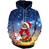 2019 New Unisex Graphic Print Hoodies 3D Colorful Novelty Design Long Sleeve Sweaters with Pocket