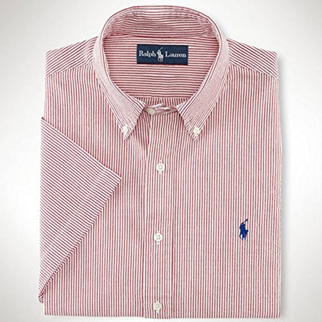 インシュレータオークションコーラス[ポロ ラルフローレン] POLO RALPH LAUREN 正規品 メンズ 半袖シャツ Custom-Fit Seersucker Shirt 並行輸入 (コード:4052900535)