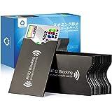 LANMU スキミング防止ケース カードケース 20枚 ブラック スキミング防止 磁気遮断 磁気防止 ICカード干渉防止 磁気エラー防止カードケース RFID&磁気スキミング防止 icカードケース/クレジットカード 読取エラー防止 予防対策ケース カ