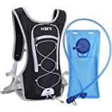 KBNI Hydration Backpack Water Backpack with BPA Free 2L Water Bladder Phone Protection Waterproof Fabric for Outdoor Sports R