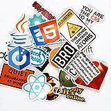 Bocoss - ラップトップの車のためのインターネットのJava JS PHPのHTML形式クラウドドッカービットコインプログラミング言語のロゴクールなステッカー