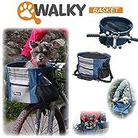Walky Basketペット犬バイクバスケット&キャリアクリック最大15ポンド