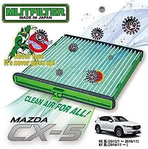 マツダ CX-5 (KE/KF) エアコン フィルター D-140_CX5 ウイルス 花粉 対策 抗菌 抗カビ 防臭