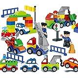 積み木 車 崩し バランス パーティー テーブル ゲーム 積み 上げ 組み 立て ハラハラ ドキドキ 子供 から 大人 まで 遊べる お片づけ袋付き (105個)