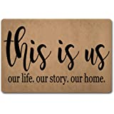 ZQH Entrance Door Mats This is Us Our Life Our Story Our Home Doormat This is Us Door Rugs Welcome Door Mats (23.6 X 15.7 in)
