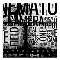 JP London Ready to Hang Made in North America Art Gallery Wrap Heavyweight Canvas Wall Cinematography Collage Retro Film Abstract 14in SQSCNV2198