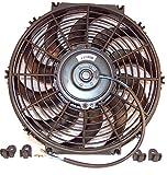 Cool Thing 汎用 電動ファン 12インチ (30cm) 12V 80W 薄型 静音 プル式