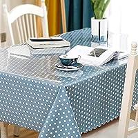 長方形のテーブルクロス、透明なPVC 1.3 mm厚いテーブルクロス+小さな新鮮なテーブルクロスの組み合わせセット CFJRB (Color : PVC+cloth, Size : 70X130+130X170cm)