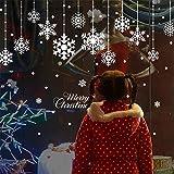 Korge-buy ウォールステッカー クリスマスの雪片 新年の窓の装飾の壁のステッカー ガラス張りのステッカー