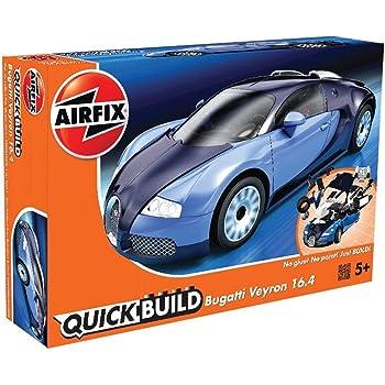 エアフィックス クイックビルドシリーズ ブガッティ ヴェイロン ブルー 塗装済みブロック式組み立てキット QB6008 プラモデル